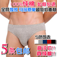 5 100% trigonometric male cotton panties high quality martha u soft and comfortable cotton panties underwear