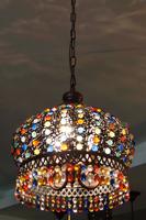 Bohemia pendant light vintage lamp restaurant lamp crystal lamp bedroom lamp bronze pendant light