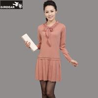 2013 women's long design sweater plus size female long-sleeve sweater one-piece dress