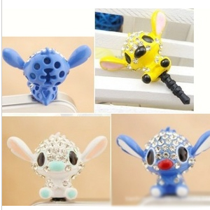 Free Shipping Cartoon Pendant Accessories DIY Alloy Mobile Phone General Stitch Dust Plug
