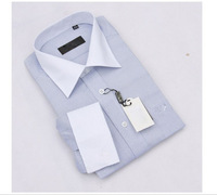 Free shipping in stock white collar formal men business suit shirt long sleeve