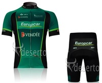 2012 Europcar Team short sleeve cycling jerseys wear clothes bicycle/bike/riding jerseys+pants / shorts
