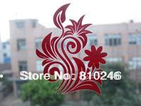 Custom printed custom die cut window decals flower decals
