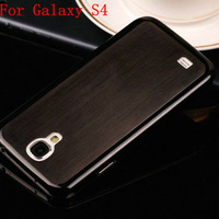 10pcs/lot 0.5MM Luxury Titanium Steel Thin Brushed Aluminum Hard Back Cover case for Samsung Galaxy S4 i9500 Free Shipping