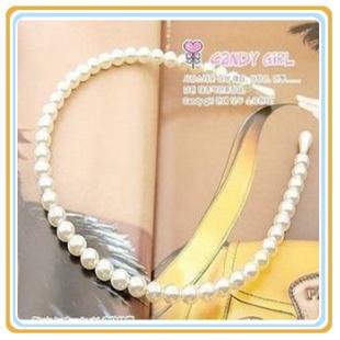 2013 New Arrival Lovely  princess pearl hair bands white  hair  headband