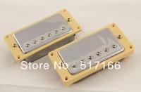 1Pairs of Chrome Guitar Humbucker Pickups & Surrounds