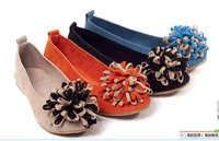 Fake buckskin comfortable autumn 2013 new Korean fashion wild comfort casual flat shoes with flat round fringed flowers