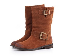 2013 Spring autumn New European and American big cowhide Martin boots women boots genuine leather shoes