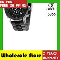 2013 Christmas Gift! HK Post Free Shipping ceramic quartz water resistant mens sports wrist watches AR5866+ gift box (6.27)