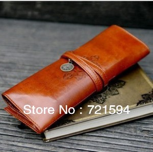 Free Shipping Twilight Vintage Leather Cosmetic Bag /Pencil Case /Stationery Pouch/Makeup Bag/Receive Bag/Buggy Bag