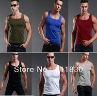 Men 2014 fashion man cotton top brand mens sport tank top casual t shirt wholesale designer clothing for men men clothing
