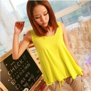 2013 candy color loose spaghetti strap vest modal pure cotton vest female(China (Mainland))