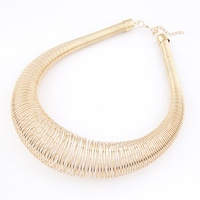Min.order is $10(mix order) free shipping 2013 new jewelry european style fashion female short metal spring necklace accessories
