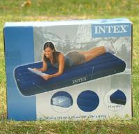 Intex inflatable mattress 68950 flock printing small air bed single air bed