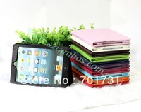 300pcs/lot Leather Wallet Full Body Protective Smart Case Cover for iPad Mini, 7.9 inch Free Shipping