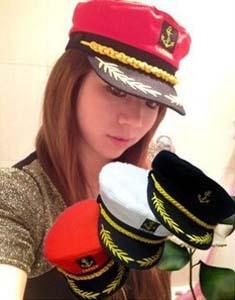 Algodão Frete Grátis Roménia capitão da Marinha Cap marítimos Sailor Hat Partido Desempenho flatcap Cosplay Chapéus para homens e mulheres(China (Mainland))