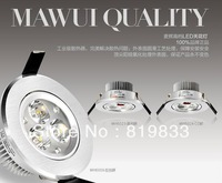 Hot Sale!LED spotlight ceiling down lamp energy saving lamp wall,LED 3W spotlight full set,aluminum,FREESHIPPING