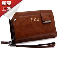 Eze man bag male clutch commercial ol day clutch genuine leather wallet multifunctional business bag