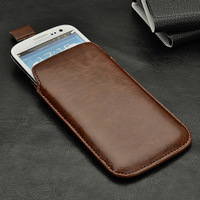 Leather PU Pull Pouch Bag Case Cover for Lenovo A830 P780 Free Shipping Wholesales