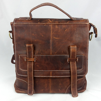 2013 Genuine leather man bag vintage shoulder bag messenger bag horse leather bag casual handbag