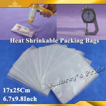 500Pcs 6.7x9.8Inch(17x25cm) Soft Transparent Blow Molding PVC Heat Shrinkable Bags Film Wrap Cosmetic Packaging Wrap Materials