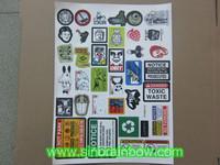 Custom printed vinyl die cut sticker sheet