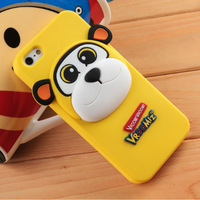 Genuine silicone cartoon style for iphone 5 case +Retail Packaging 5pcs/lot free shipping