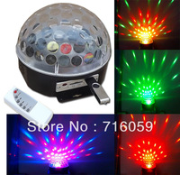 LED crystal magic ball light RGB LED stage lighting  sound control Disco DJ Party Stage Lighting with USB drive and remote