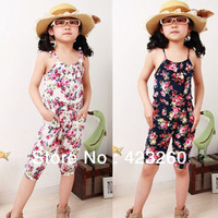 Toddler Girls Kids Jumpsuit Short Summer Playsuit Soft Clothing One-piece 2-8Y XL023 Free shipping Dropshipping