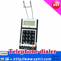 Call center dialpad Headset telephone with CID LCD,RJ11 plug  HT2000