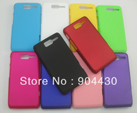 30pcs For Motorola Razr D1 rubber plastic Hard cases+ 30pcs screen protectors