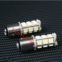 Free shipping S25 1157 5050 18 two-point auto LED light brake light
