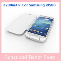 50pcs/Lot High Quality 3200mah external battery case for Samsung Galaxy S4 I9500 Battery Case  wholesales  Free Shipping