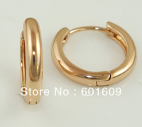 Free Shipping! Wholesale 3pairs 14K Rose Gold Filled Charming Smooth Sturd Earrings TB277*3
