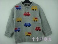 Baby 100% cotton sweater baby sweater male child long-sleeve sweater cartoon sweater child 100% cotton sweater
