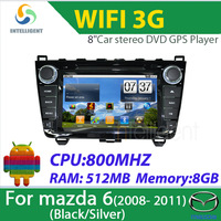 Car DVD Player Android Car Radio for Mazda 6 2008 2009 2010 2011 2012 Auto DVD GPS with 3G WIFI GPS Iphone Bluetooth