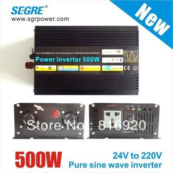 New DC24v TO AC 220V Cheap Off Grid 500W Pure Sine Wave Solar Inverter