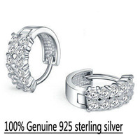 Wholesale 100% Genuine 925 sterling silver wedding earring fine jewelry GSJ12