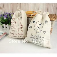 Zakka fluid fabric storage bag eco-friendly miscellaneously bag sorting bags drawstring bags tote big Small