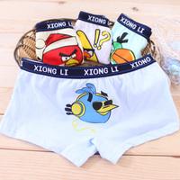 Free shipping Bamboo child panties baby big boy male child 100% cotton boxer panties 73268