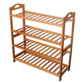 Natural bamboo shoe rack