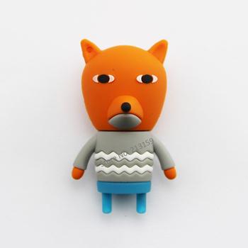 Retail cartoon 3D ROMANE sweet Fox Nicola USB Flash Drives thumb pen drives memory stick disk 2G 4GB 8GB 16GB 32GB Free shipping