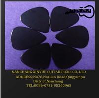 plain black celluloid guitar pick