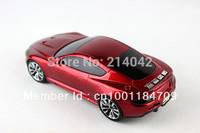 Car Shaped Music Player F6 LED Digital Display mini speaker Support TF / FM / USB 100pcs Free shipping