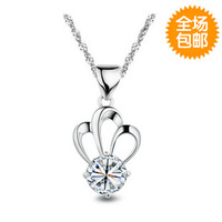 Amethyst 2013 925 pure silver necklace pure silver pendants Women necklace birthday