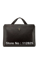 Hottest Free Shipping Classic Simple Brown 100% Genuine Leather Man Bag/ Brifecase
