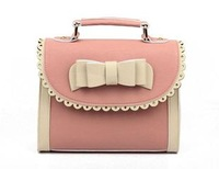 2012 bow vintage candy color block women's handbag messenger bag cute little bags