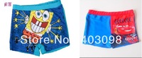 boy swimming trunks Bob sponge and car design cartoon cute kids swimwear
