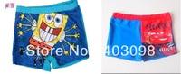 boy swimming trunks Bob sponge and car design cartoon cute kids swimwear