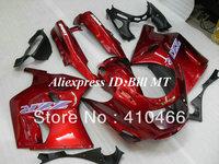 Free Shipping Fairing kit for Kawasaki Ninja ZZR 1100 1993 2003  ZZR 1100D 93 03 ZZR1100D ZX11 ABS hot red fairings bodykit K14